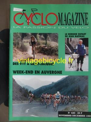 CYCLO MAGAZINE 1993 - 12 - N°420 novembre / decembre 1993