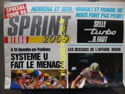 SPRINT 2000 1986 - 06 - N°1 Journal spécial Tour 1986