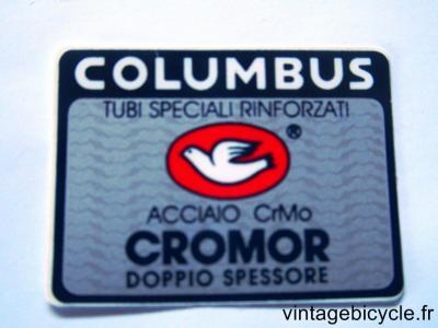 COLUMBUS CROMOR ORIGINAL Tubes autocollants NOS