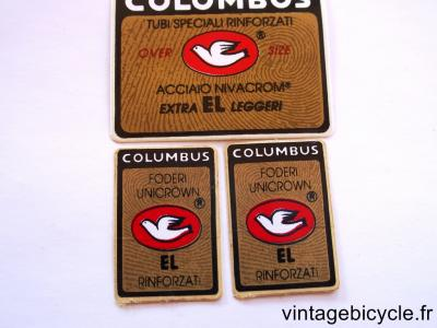 COLUMBUS EL OS ORIGINAL Bicycle Frame Tubing STICKER NOS