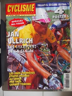 CYCLISME INTERNATIONAL 1998 - 07 - N°153 juillet 1998