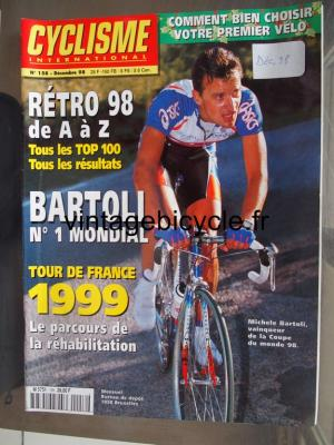 CYCLISME INTERNATIONAL 1998 - 12 - N°158 decembre 1998