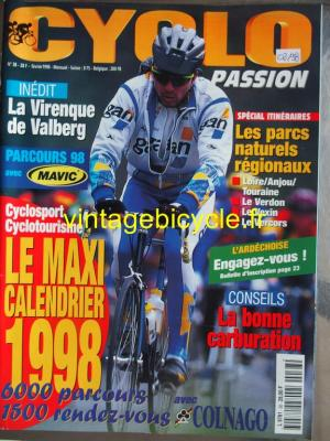 CYCLO PASSION 1998 - 02 - N°38 fevrier 1998
