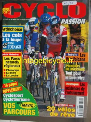 CYCLO PASSION 1998 - 04 - N°40 avril 1998