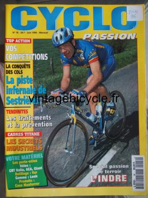 CYCLO PASSION 1996 - 06 - N°18 juin 1996