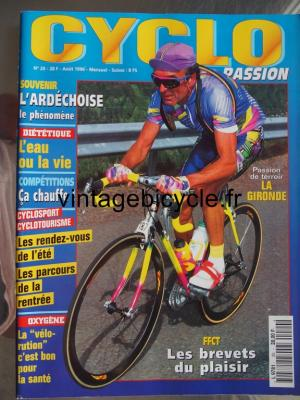 CYCLO PASSION 1996 - 08 - N°20 aout 1996