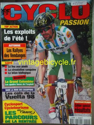CYCLO PASSION 1998 - 08 - N°44 aout 1998
