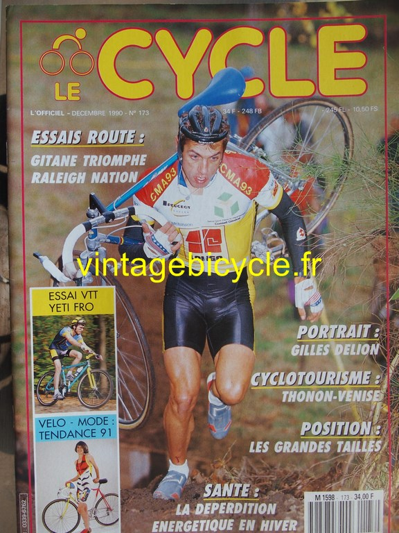 Vintage bicycle fr l officiel du cycle 33 copier
