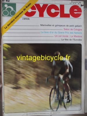 LE CYCLE l'officiel 1980 - 11 - N°62 novembre 1980