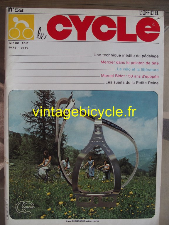 Vintage bicycle fr l officiel du cycle 74 copier