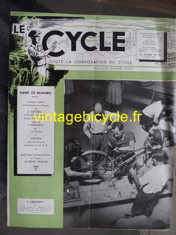 Vintage bicycle fr le cycle 2 copier