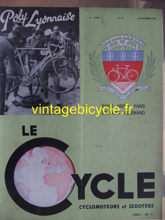 Vintage bicycle fr lecycle 77 copier