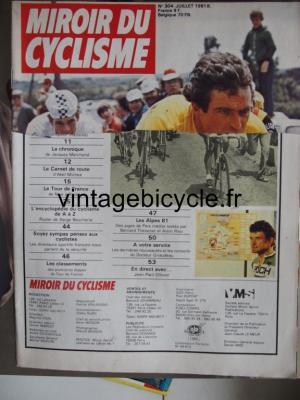 MIROIR DU CYCLISME 1981 - 07 - N°304 juillet 1981