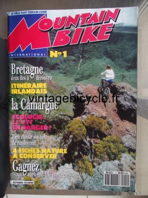 MOUNTAIN BIKE INTERNATIONAL 1991 - 11 - N°1 novembre / decembre 1991