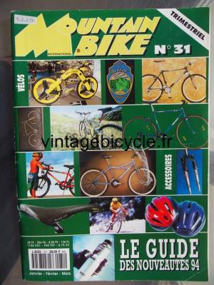MOUNTAIN BIKE INTERNATIONAL 1994 - 01 - N°31 janvier / fevrier / mars 1994