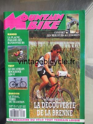 MOUNTAIN BIKE INTERNATIONAL 1992 - 10 - N°20 octobre 1992