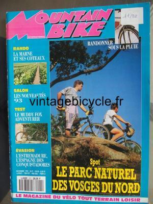 MOUNTAIN BIKE INTERNATIONAL 1992 - 11 - N°21 novembre 1992