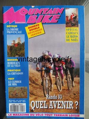 MOUNTAIN BIKE INTERNATIONAL 1992 - 12 - N°22 decembre 1992 / janvier 1993