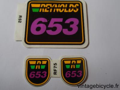 REYNOLDS 653 ORIGINAL Bicycle Frame Tubing STICKER NOS