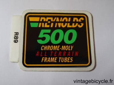 REYNOLDS 500 ALL TERRAIN ORIGINAL Bicycle Frame Tubing STICKER NOS