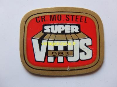 SUPER VITUS 983 ORIGINAL Tubes autocollants NOS