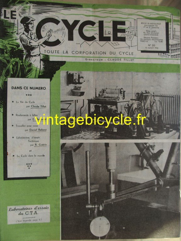 Vintage bicycle le cycle 23 copier