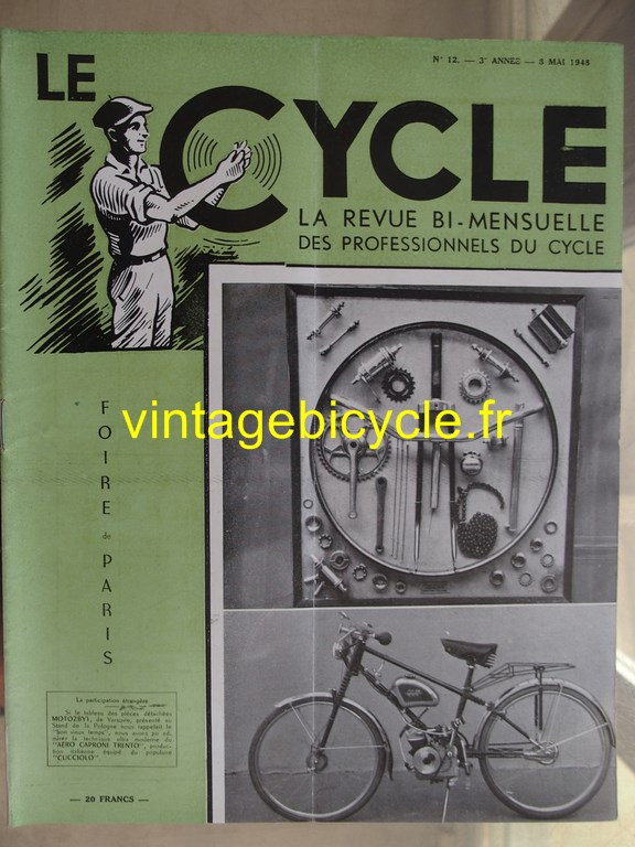 Vintage bicycle le cycle 47 copier
