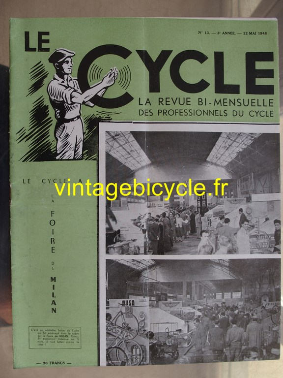 Vintage bicycle le cycle 48 copier