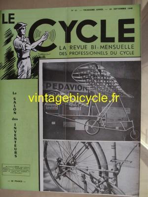LE CYCLE 1948 - 09 - N°21 septembre 1948
