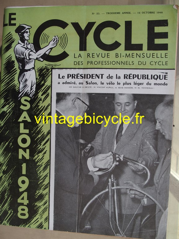 Vintage bicycle le cycle 58 copier