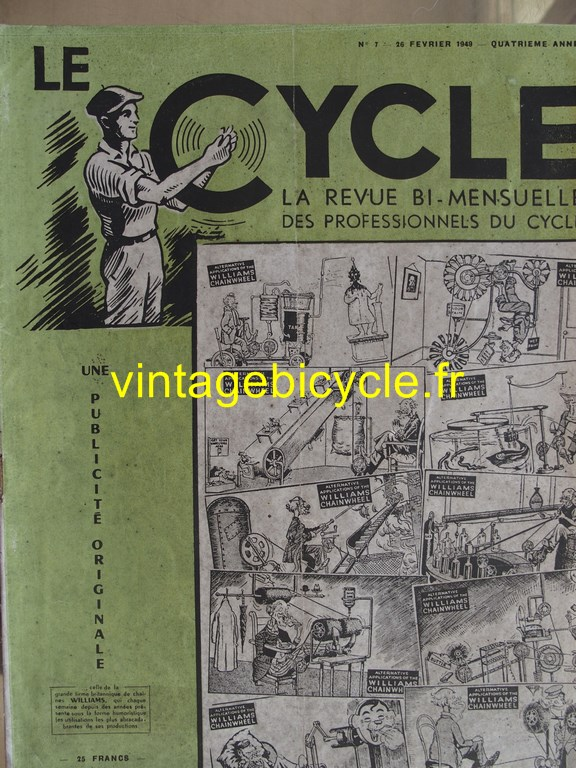 Vintage bicycle le cycle 65 copier