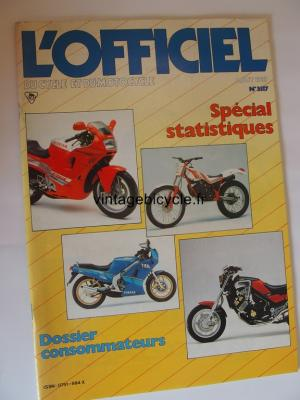 L'OFFICIEL du cycle et du motocycle 1987 - 08 - N°3517 aout 1987