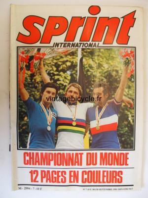 SPRINT INTERNATIONAL 1981 - 09 - N°07 septembre 1981