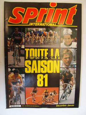SPRINT INTERNATIONAL 1981 - 12 - N°10 decembre / janvier 1981
