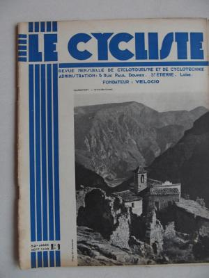 LE CYCLISTE 1938 - N°09