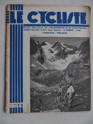 LE CYCLISTE 1938 - N°10
