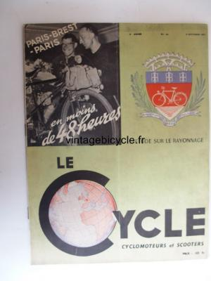 LE CYCLE 1951 - 09 - N°20 septembre 1951
