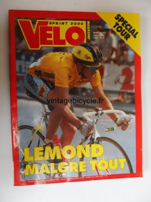 VELO SPRINT 2000 1990 - 08 - N°257 aout 1990