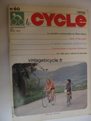 LE CYCLE l'officiel 1980 - 08 - N°60 aout / septembre 1980