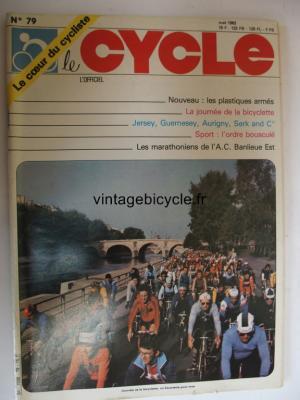 LE CYCLE l'officiel 1982 - 05 - N°79 mai 1982