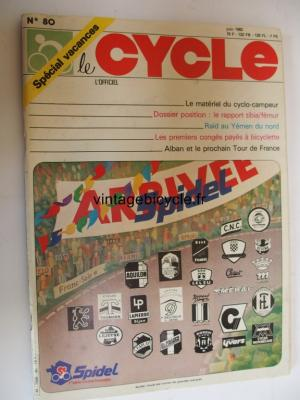 LE CYCLE l'officiel 1982 - 06 - N°80 juin 1982