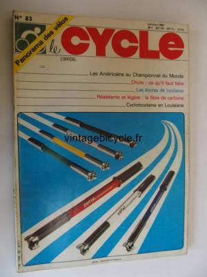 LE CYCLE l'officiel 1982 - 10 - N°83 octobre 1982