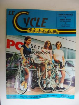 LE CYCLE 1972 - 08 - N°132 aout / septembre 1972