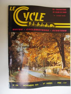 LE CYCLE 1972 - 11 - N°134 novembre 1972