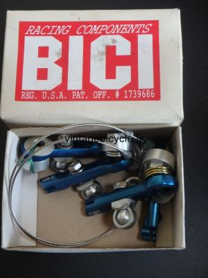 BICI Brake Cantilever V-Brake (pair). Aluminum blue anodized. NOS