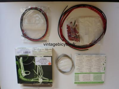 NOKON Low Friction derailleur Cable System. Road Bike Cycling Housing NOS Red for Shimano STI