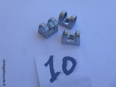 CABLE GUIDE TOP TUBE ALUMINIUM (set of 3) for 6mm housing cable