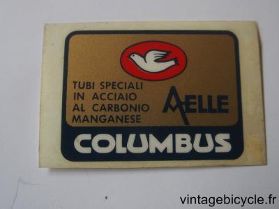 COLUMBUS AELLE ORIGINAL Bicycle Frame Tubing STICKER NOS