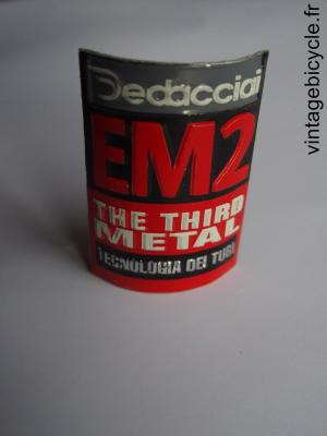 DEDACCIAI EM2 ORIGINAL Bicycle Frame Tubing STICKER NOS