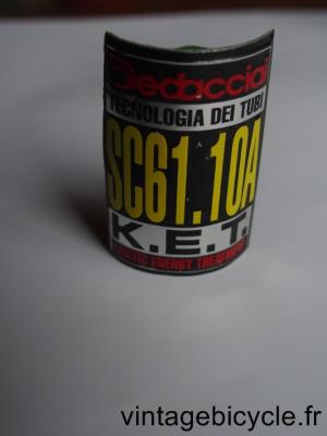 DEDACCIAI SC61.10A K.E.T. ORIGINAL Bicycle Frame Tubing STICKER NOS